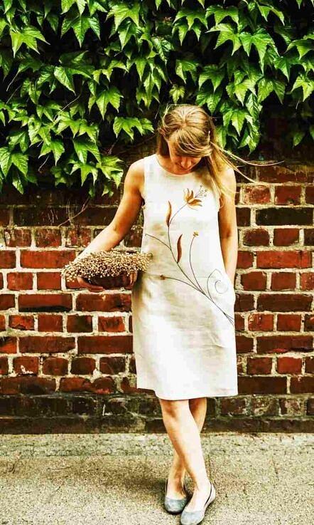 "Lniana sukienka ""Tulipan"""