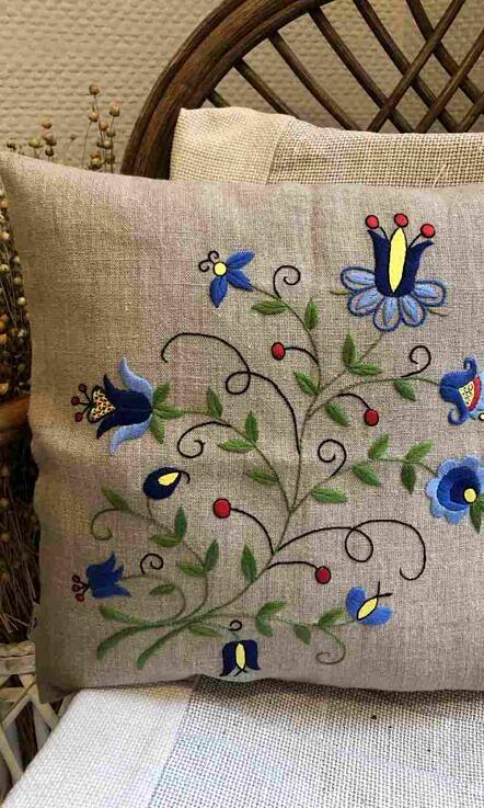 Poszewka na poduszkę wzór do haftowania