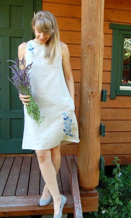 """Lniana sukienka """"BUKIET"""""""