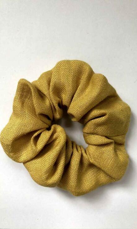 """gumka """"scrunchie"""" żółty"""