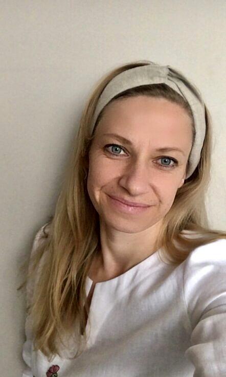 """Opaska lniana """"turban"""""""